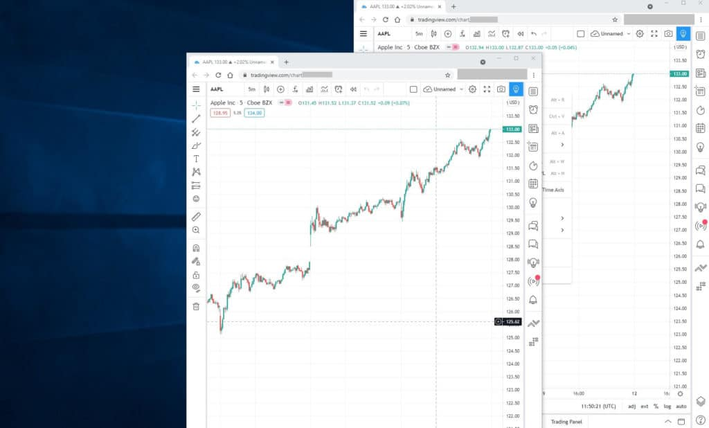 Tradingview multiple charts free  Multiple TradingView charts using Keyboard short cuts and browser window drag and drop