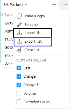 tradingview import watchlist exporting a watchlist into tradingview